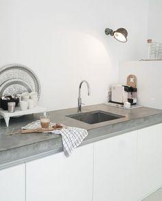 Binnenkijken bij Suus sfeerimpressie betonnen aanrecht keuken