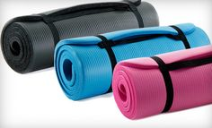 I've been on the lookout to get my own.  I caught this ProSource Yoga Mat with Carrying Straps deal so I can bring my own and use when I don't go to the gym.