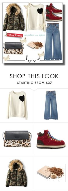 """""""Winter is here"""" by elarmariodelcamaleon ❤ liked on Polyvore featuring WithChic, RED Valentino, Chloé, Visvim, SAM. and Mary Kay"""