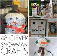 Snowman craft round up {winter craft} - C.R.A.F.T.