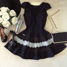 Vestido Clarinha Jacquard Premium C/ BOJO( Preto) - Melrose Brasil