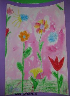Bloemen van wasco en ecoline