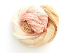 Ombre Scarf in shades of nude pink and desert sand