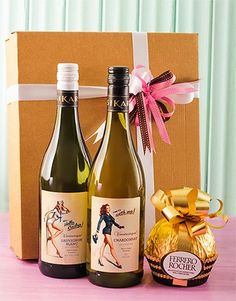 Mother's Day Hamper of wine and chocs