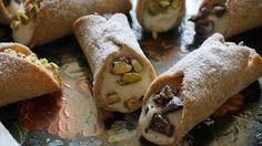 Croccante cannolo integrale con pistacchi, arancia e cioccolato