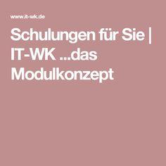 Schulungen für Sie | IT-WK ...das Modulkonzept