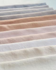 Shades of eucalyptus on linen