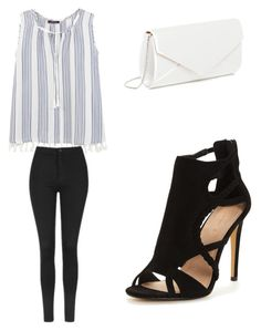 """""""Untitled #340"""" by morganzobean ❤ liked on Polyvore featuring Violeta by Mango and Topshop"""