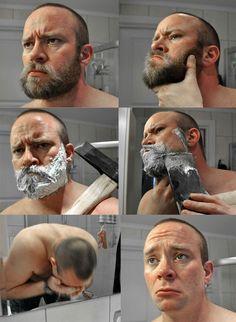No Beard = No Power, No Authority From Beardoholic.com I shall cry when my beard goes