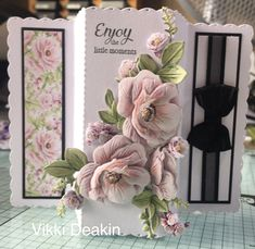Samantha Brown's media statistics and analytics Fancy Fold Cards, Folded Cards, Tattered Lace Cards, Paper Flower Tutorial, Shaped Cards, Embossed Cards, Create And Craft, Card Tags, Greeting Card
