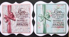 God Can Restore What Is Broken on Craftsuprint - View Now! Christmas Topper, Bear Decor, Gold Paper, Blank Cards, Pattern Paper, Restore, I Card, Paper Flowers, Decoupage