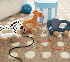 Nylah loves to pull things...these are cute animal pull toys...and i love classic toys
