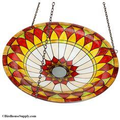 BirdHouseSupply.com - Evergreen Enterprises Tiffany Hanging Glass Birdbath, $24.80 (https://www.birdhousesupply.com/evergreen-enterprises-tiffany-hanging-glass-birdbath/)