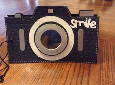 Camera card. Cut out with Cricut!