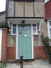 1930s Front door with obscured glass (178)