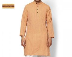 This daily deal for the Earthy Hues Cotton Knee-Length Men's Kurta (Light Orange) is the best price in Indian online shopping and, just like every product sold on Bhaap.com, is a 100% genuine product. It has the following specifications:  Brand: Earthly Hues Type: Men's Kurta Material: Cotton Fit: Regular Sleeves: Full
