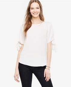 Thumbnail Image of Color Swatch 9192 Image of Tie Sleeve Blouse
