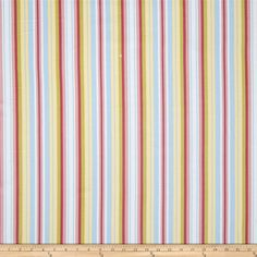 Fabricut Balfour Cornsilk from @fabricdotcom  Screen printed on 100% cotton, this medium/heavyweight fabric features a stripes pattern and is perfect for window accents (draperies, valances, curtains, and swags), accent pillows, duvet covers, and upholstery projects.