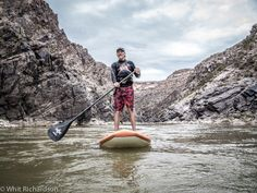 Dave Wolf on a stand up paddle board, Westwater stretch of the Colorado river, Colorado. #adventuretravel #travelphotography #travel