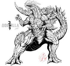 Godzilla: 2017 (lines) by Gabe-TKE on DeviantArt