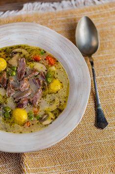 Gombócos kacsaraguleves, ahogy azt kell recept | Street Kitchen Ravioli, Ramen, Curry, Soup, Japanese, Eat, Ethnic Recipes, Kitchen, Street