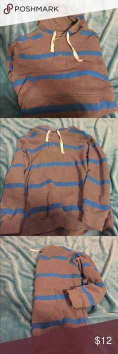 Men's sweatshirt Hooded sweatshirt.       Gray and blue.    Size XL.    Great condition Other