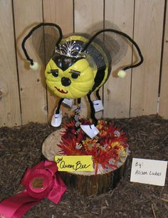 Queen Bee decorated pumpkin at The Big E by Alison Lukas!