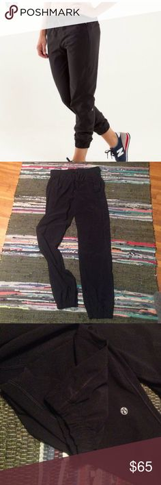 Lululemon joggers 8 black No rip tag size dot confirmed 8 gently used great condition. Back zippered pockets and tie waistband lululemon athletica Pants Track Pants & Joggers