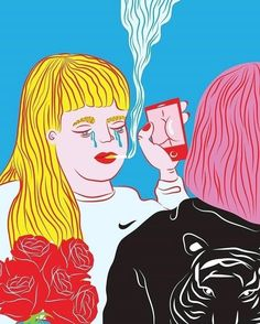 blog ☽⌇✷ #illustrations by kine andersen on theneoncart.com