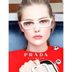 Influence and Stardoll: ♥♥♥ Frida Gustavsson for Prada Eyewear Fall... ❤ liked on Polyvore