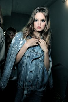 Lindsey backstage at Jean Paul Gaultier Spring Summer 2013 | PFW