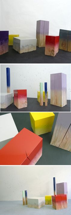 Judith Seng. Imagine these as little stools in your living room.