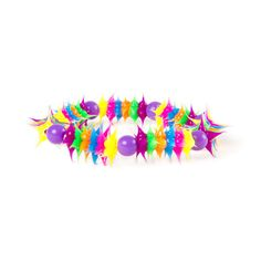 http://www.claires.com/us/products/rainbow-rubber-spike-and-beaded-bracelet-72990
