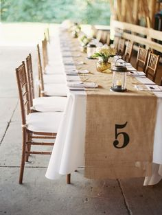 See more about burlap runners, burlap table runners and farm wedding. Rustic Table Numbers, Wedding Table Numbers, Barn Wedding Decorations, Table Decorations, Rustic Wedding Inspiration, Wedding Ideas, Burlap Table Runners, Farm Wedding, Wedding Rustic
