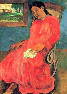Gauguin Paul The woman in red