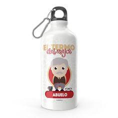Termo - El termo del mejor abuelo, encuentra este producto en nuestra tienda online y personalízalo con un nombre. Water Bottle, Snoopy, Drinks, Character, Nurses, Grandparent, Carton Box, Upcycling, Store