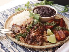 Cuban-Style Roast Pork Shoulder With Mojo - Pork Recipes Cuban Recipes, Pork Recipes, Cooking Recipes, Crowd Recipes, Recipies, Spanish Recipes, Game Recipes, Drink Recipes, Chicken Recipes