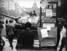 Russian Tank on Venceslav Square in Prague - August 1968 Prague City, Bored Panda, Vintage Love, Old Pictures, Czech Republic, Historical Photos, Picture Photo, Prague Czech, In This Moment
