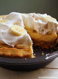 Torta de Creme, Banana e Manteiga de Amendoim