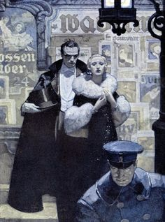 """""""The Count of Monte Cristo"""" and others by Mead Schaeffer, American Golden Era illustrator."""