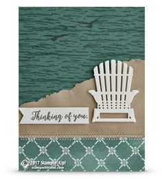 SNEAK PEEK: Thinking of You Beach Chair Card from Colorful Seasons Stamp Set