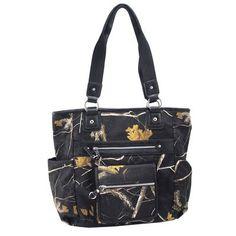 Realtree Black Camo Front and Side Pocket Tote Bag   #Realtreecamo