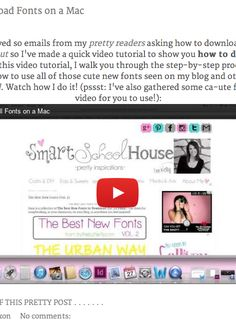 How to download all of those cute fonts you see on Pinterest. An easy video tutorial.
