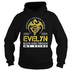 Awesome Tee EVELYN Blood Runs Through My Veins (Dragon) - Last Name, Surname T-Shirt Shirts & Tees