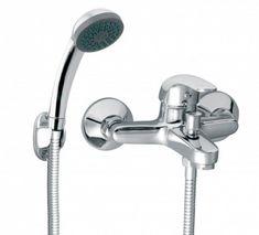 Poze Baterie perete cada/dus Vasto, crom cu accesorii Bathroom Hooks, Iron, Poland, Water Tap, Minimalist Design