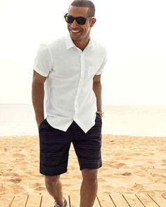 Summer Beach Wedding Men Fashion                              …