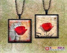 POPPIES 1x1 inch Digital Collage Sheet by KARTINKAshop on Etsy
