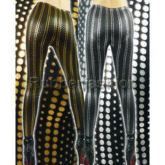 Sexy Stretch Leggings mit Steifen silber / gold #Stretch #Leggings #Leggins #Legings #GAGA #Hose #Strumpfhose #Punkte 16.90 EUR inkl. 19% MwSt. zzgl. Versand