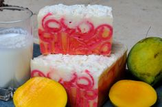 A combination of two of the most popular summer coolers, that are rich in skin beneficial properties too! #MangoTango #Mango #buttermilk #Soap