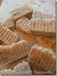 lard soap with coconut and olive oil in crock pot